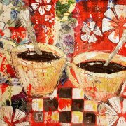 Tasses, 15x15cm, papier, disponible