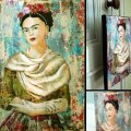 My beautiful Frida, technique mixte, 17x23cm, toile - Vendu