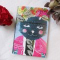 "Carnet de note A6 ""LFrida cat"", 40 pages blanches"